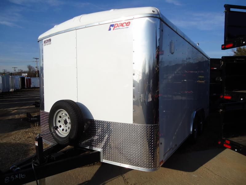 2019 Pace American 8.5X16 CLS TE2 RAMP WHITE Enclosed Cargo Trailer