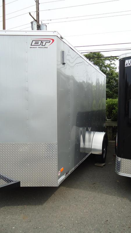 "2019 Bravo Trailers 6X12 SC SA 18V 6""X RAMP APP SILVER Enclosed Cargo Trailer"