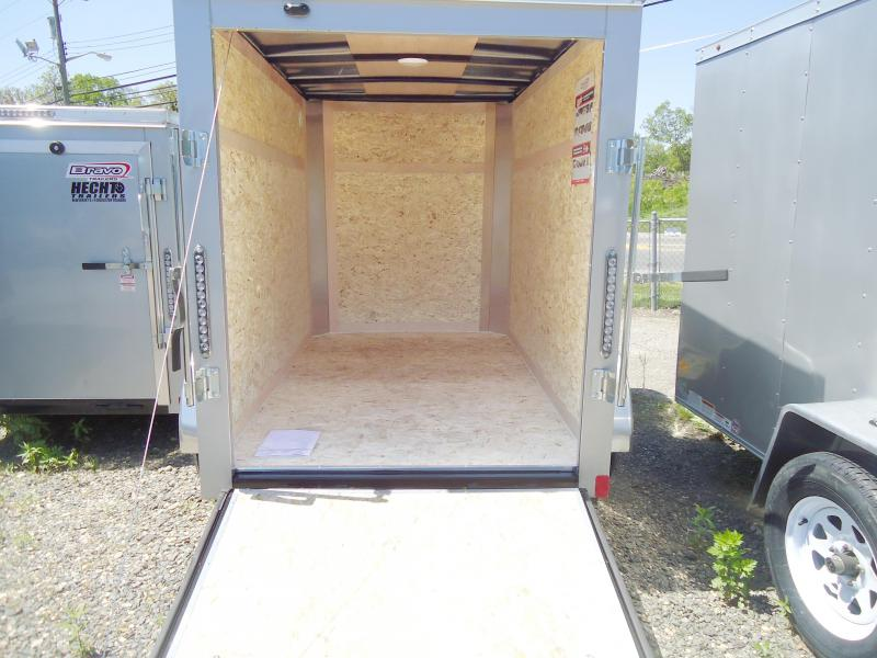 "2019 Bravo Trailers 5X8 SC SA 6""X RAMP APP SILVER Enclosed Cargo Trailer"