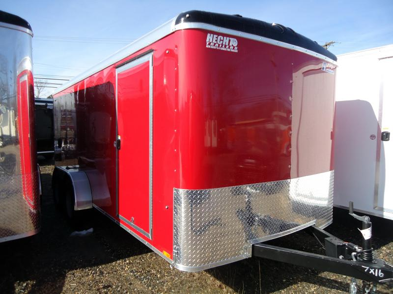 2019 Pace American 7X16 JT TE2 RAMP SVNTS RED Enclosed Cargo Trailer