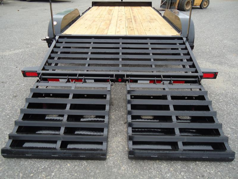 2018 Big Tex Trailers EH 7X16 10ET-16BK-MR MEGA RAMPS BLACK Equipment Trailer