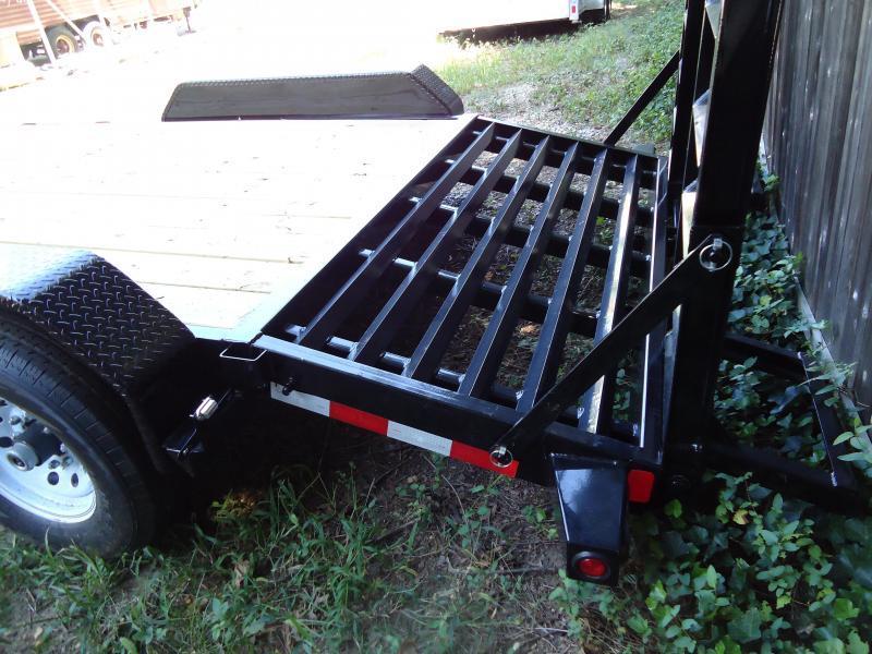 2017 Big Tex Trailers EH 7X18 14ET-18BK-KR KNEE RAMPS BLACK Car / Racing Trailer