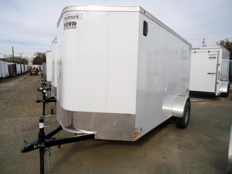 2019 Haulmark 6X12 PPT S2 RAMP WHITE Enclosed Cargo Trailer
