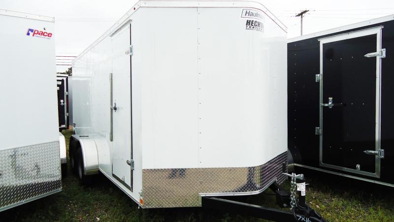 2019 Haulmark 7X16 PPT T2 RAMP WHITE Enclosed Cargo Trailer
