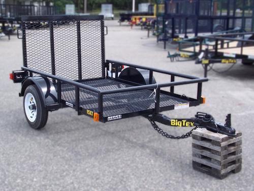2016 Big Tex Trailers UT-5X8 15XT MESH DECK RAMP GATE Utility Trailer