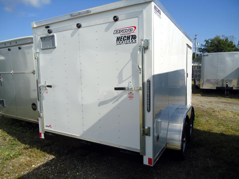 "2019 Bravo Trailers 7X12 ST TA2 30""V RAMP APP WHITE Enclosed Cargo Trailer"