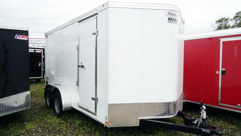 2019 Haulmark 7X14 PPT T2 RAMP WHITE Enclosed Cargo Trailer