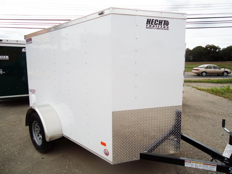 "2019 Bravo Trailers 5X8 SC SA 18""V LD RAMP WHITE Enclosed Cargo Trailer"