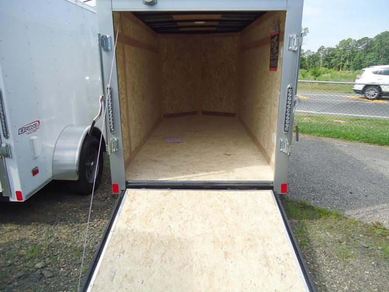 2017 Bravo Trailers 5X10SC SA V LD RAMP APP SILVER Enclosed Cargo Trailer