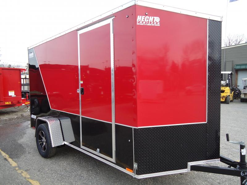 """2019 Pace American 6X12 JVSE SI2 24""""VS 6""""X RAMP SVNTS DRNG RED&BLACK Enclosed Cargo Trailer"""