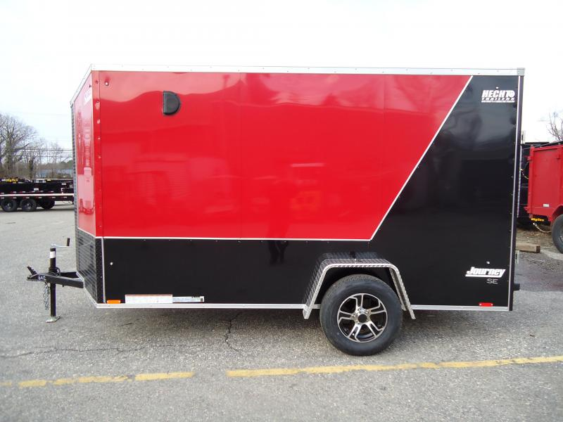 """2020 Pace American 6X12 JVSE SI2 24""""VS 6""""X RAMP SVNTS DRNG RED&BLACK Enclosed Cargo Trailer"""