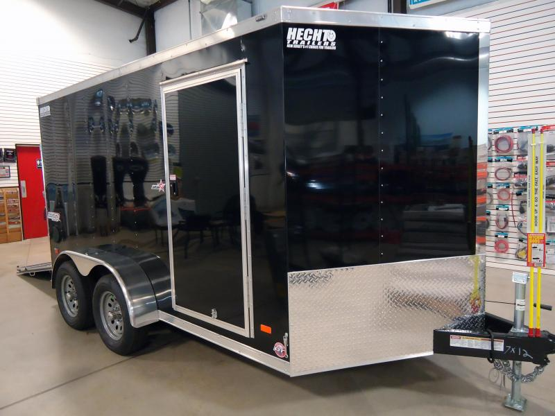 "2019 Bravo Trailers 7X12 ST TA2 30""V MC CHOK VINYL ON CEILING BLACK Enclosed Cargo Trailer"