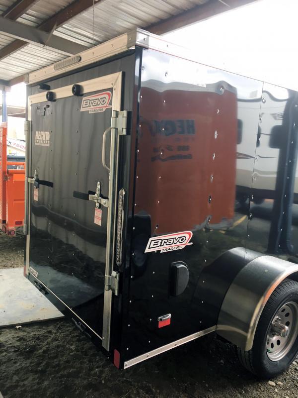 2019 Bravo Trailers 5X10 SC SA V LD RAMP APP BLACK Enclosed Cargo Trailer