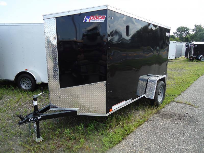 2018 Pace American 5X10 JVSE SI2 RAMP SVNTS BLACK Enclosed Cargo Trailer