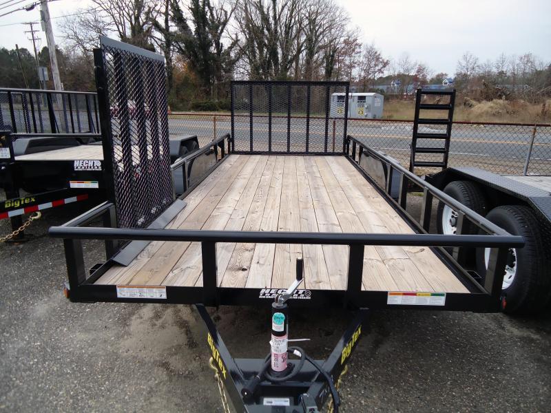 2019 Big Tex Trailers UT 7X16 70PI 16XBK 4RG 4 SIDE GATE BLACK Utility Trailer
