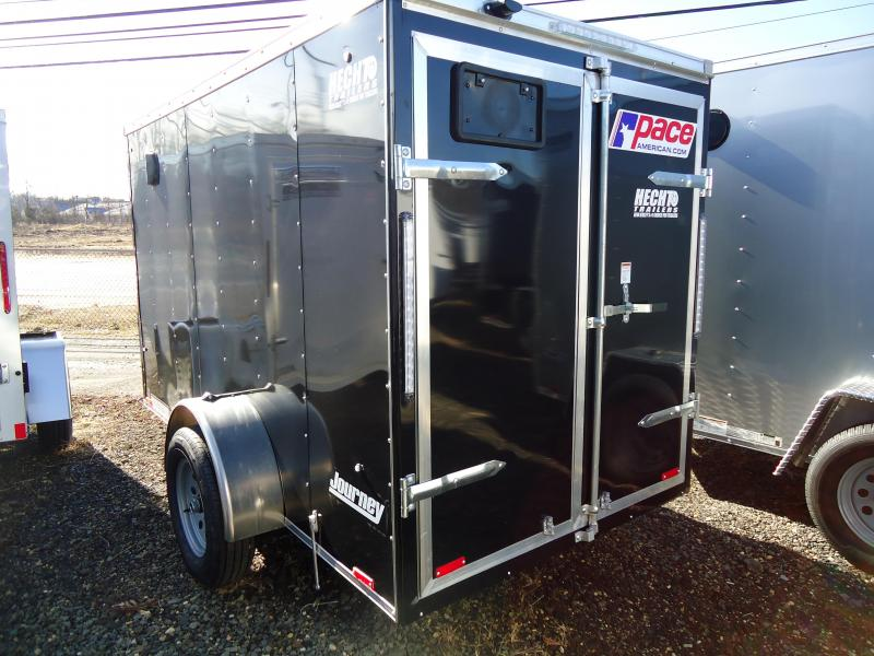 2019 Pace American 5X10 JV SI2 SVNTS BLACK Enclosed Cargo Trailer