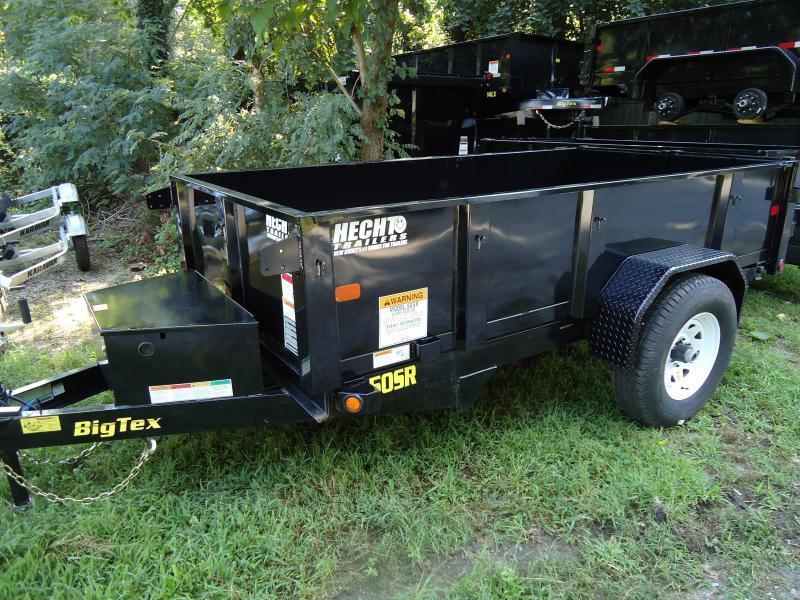2017 Big Tex Trailers DT 5X10 50SR-10-5WDD DOUBLE DOORS BLACK Dump Trailer