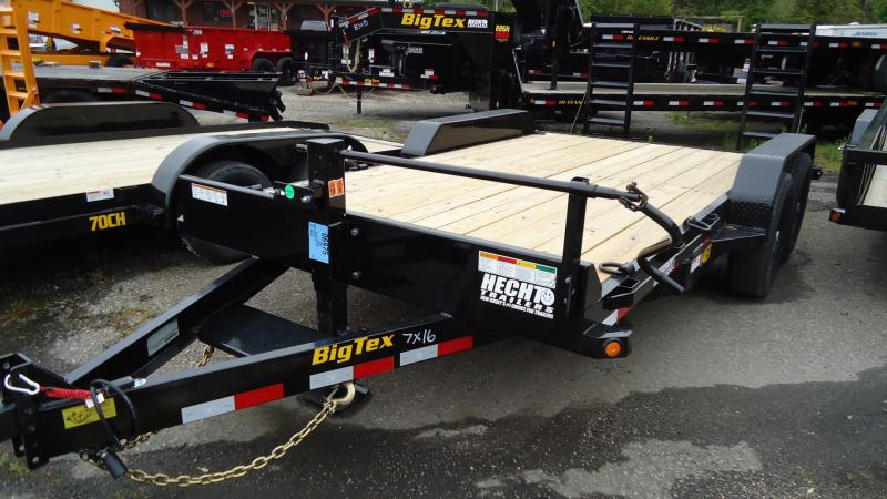 2020 Big Tex Trailers EH 7X16 14ET 16BK KR DT 3 KNEE BLACK Equipment Trailer