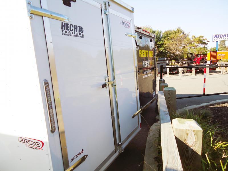 "2019 Bravo Trailers 6X12 SC SA 18""V APP WHITE Enclosed Cargo Trailer"