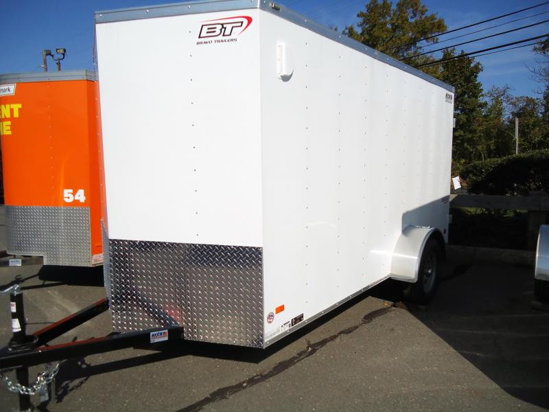 "2019 Bravo Trailers 6X12 SC SA 18""V APP WHITE Enclosed Cargo Trailer"