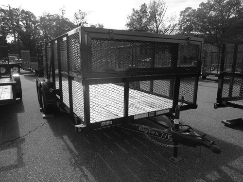 2017 Big Tex Trailers UT-7X16 70LR-16BK PT WEED RACK Utility Trailer