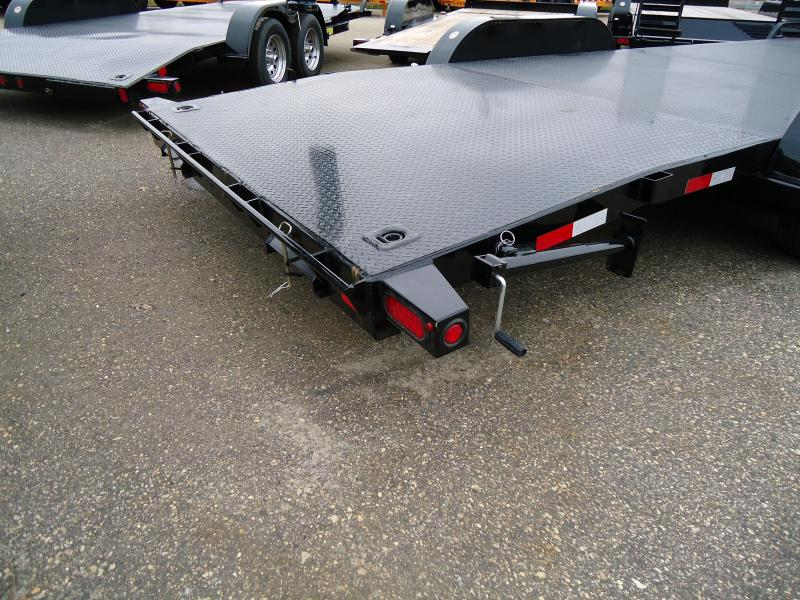 2019 Big Tex Trailers CH 7X22 10DM 22BK BLACK Car / Racing Trailer