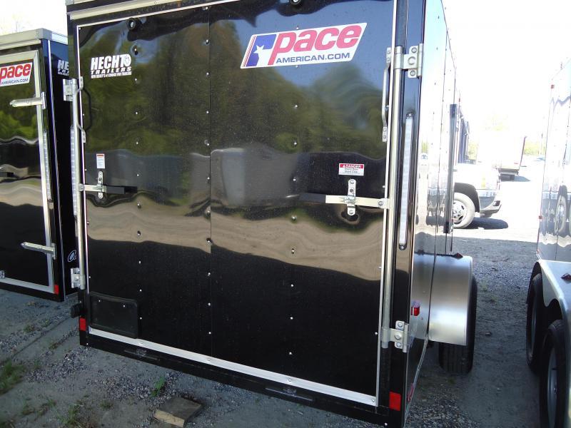 2019 Pace American 6X12 OB SI2 RAMP BLACK Enclosed Cargo Trailer