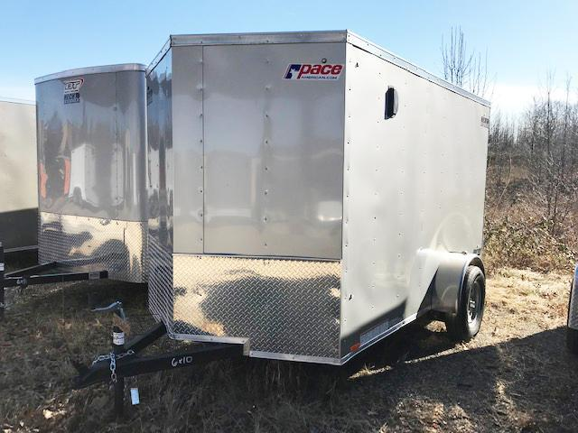 2019 Pace American 6X10 JV SI2 RAMP SVNTS SILVER Enclosed Cargo Trailer