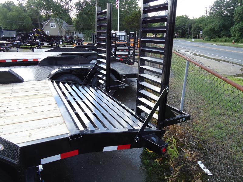 2019 Big Tex Trailers EH 7X18 16ET 153BK 5SUKR KNEE BLACK Equipment Trailer