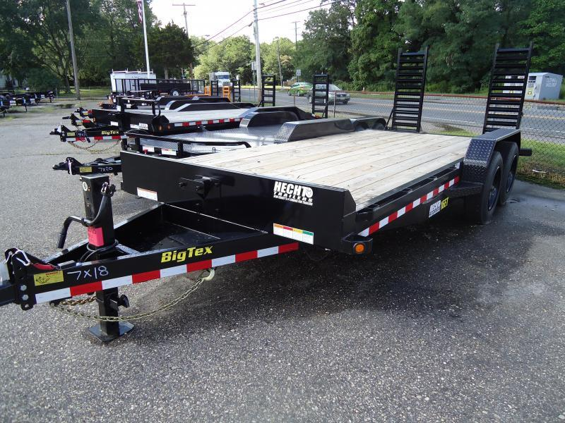 2019 Big Tex Trailers EH 7X18 16ET 153BK 5SUKR KNEE BLACK Equipment Trailer