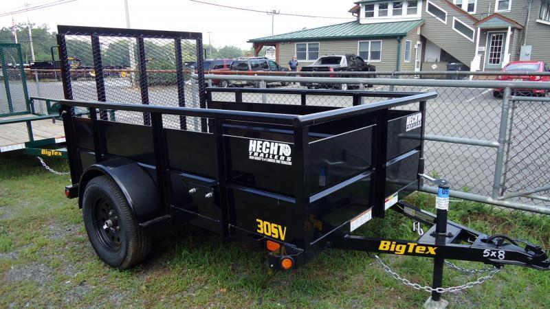 2020 Big Tex Trailers UT 5X8 30SV 08BK 4RG BLACK Utility Trailer