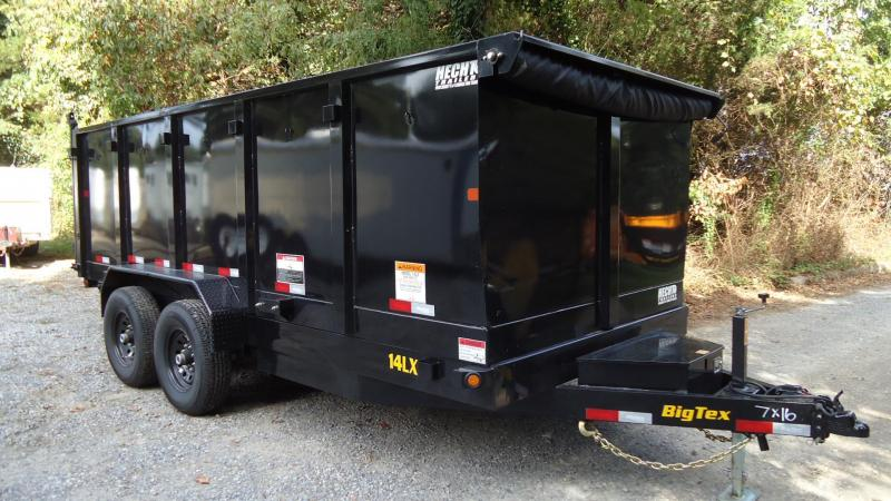 2020 Big Tex Trailers DT 7X16 14LX 16BK P4 7'SIR BLACK Dump Trailer