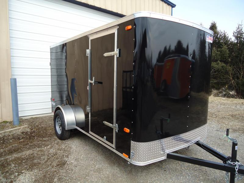 2019 Pace American 6x12 OB SI2 RAMP BLACK Enclosed Cargo Trailer