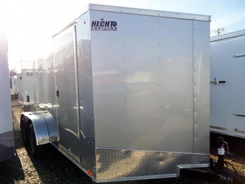 2019 Pace American 7X14 OBDLX TE2 V RAMP SVNTS SILVER Enclosed Cargo Trailer