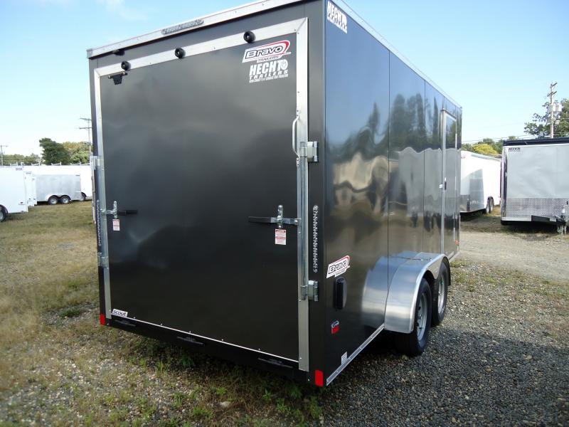 "2019 Bravo Trailers 7X16 SC TA2 V 12""X CHARCOAL Enclosed Cargo Trailer"