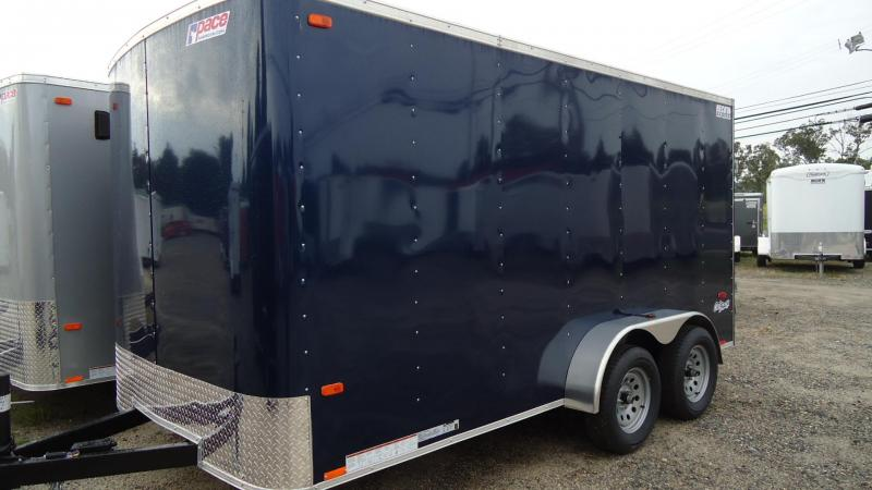 "2020 Pace American 7X14 OB TE2 6""X RAMP BLUE Enclosed Cargo Trailer"