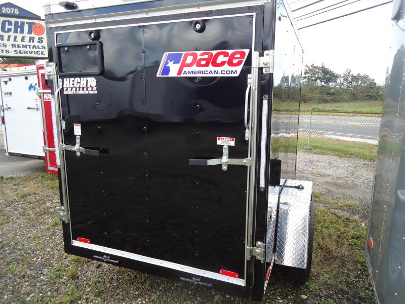 2019 Pace American 5X8 OBDLX SI2 SV RAMP SVNTS BLACK Enclosed Cargo Trailer