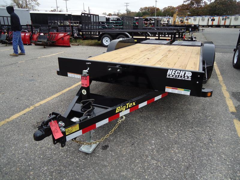 2018 Big Tex Trailers EH 7X18 10ET-18BK-MR MEGA RAMPS BLACK  Equipment Trailer
