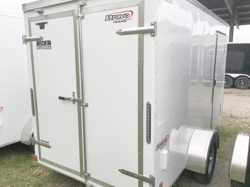 "2018 Bravo Trailers 6X12 SC SA 8""X APP WHITE Enclosed Cargo Trailer"