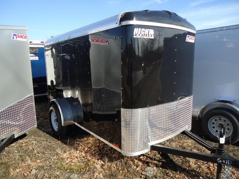 2019 Pace American 5X10 JT SI2 RAMP DRNG SVNTS BLACK Enclosed Cargo Trailer