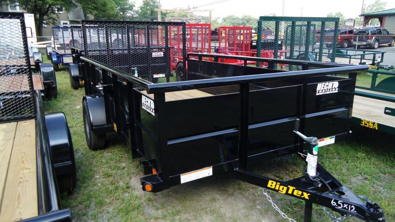 2020 Big Tex Trailers UT 6.5X12 35SV 12BK 4RG BLACK Utility Trailer