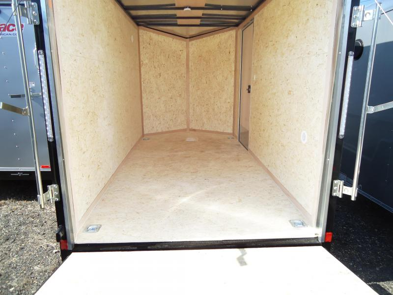 2020 Pace American 6X12 JVSE SI2 24VS RAMP SILVER BLACK Enclosed Cargo Trailer