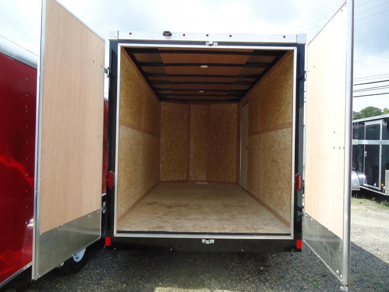 2017 Haulmark 7X14 TSTV WT3 6X VIPER ALUM WHEEL BLACK Enclosed Cargo Trailer