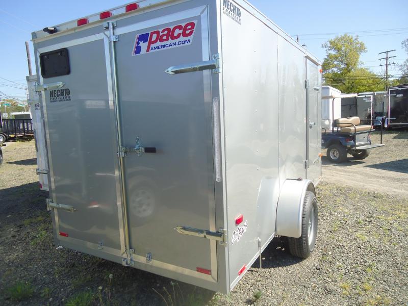 2019 Pace American 6X12 OB SI2 SILVER Enclosed Cargo Trailer