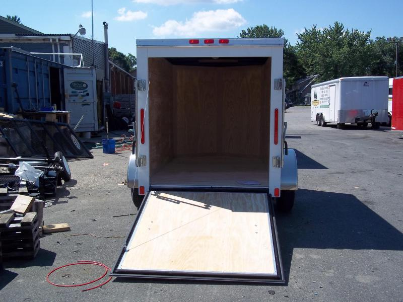 2017 Bravo Trailers 5X10SC SA V LD RAMP APP WHITE Enclosed Cargo Trailer