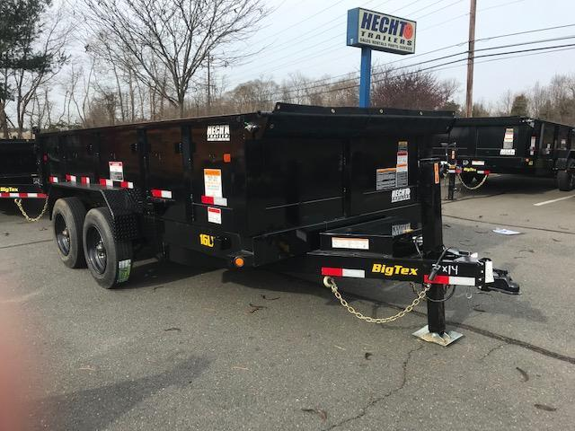 2019 Big Tex Trailers DT 7X14 16LX 14BK 7SIRPD HYJCK TARP BLACK Dump Trailer