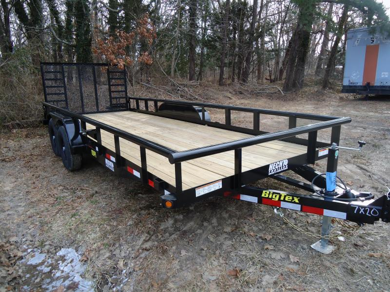 2019 Big Tex Trailers UT 7X18 10PI 18BK 4HDSAG 2EB BLACK Equipment Trailer