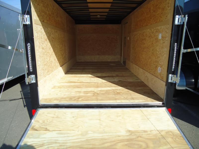 2019 Bravo Trailers 7X16 ST TA2 LND SCP HD RAMP ADJ CUP BLACK Enclosed Cargo Trailer