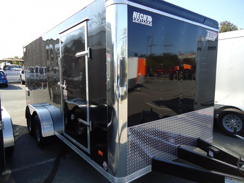 2019 Bravo Trailers 7X16 ST TA2 LND SCP HD RAMP ADJ CUP BLACK Enclosed Cargo Trailer