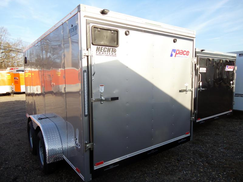 2019 Pace American 7X14 OBDLX TE2 RAMP SVNTS SILVER Enclosed Cargo Trailer